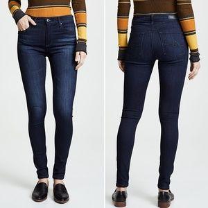 AG Farrah High Rise Skinny Jeans Dark Wash